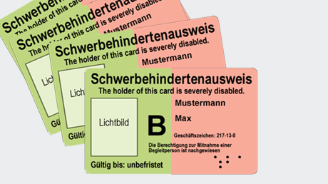 Abbildung Schwerbehindertenausweis ((c) BMAS)