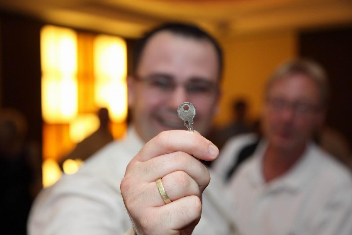 Bild Jan mit Schlüssel