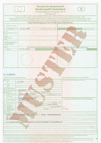 Eigentumserwerb eines Kfz durch Eintragung in die Zulassungsbescheinigung Teil II