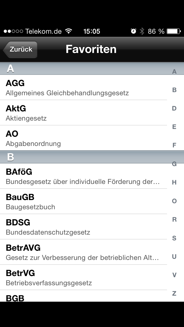 Gesetze für iOS