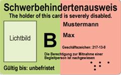 Abbildung Schwerbehindertenausweis